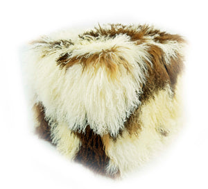 Tibetan Square Pouf - Natural
