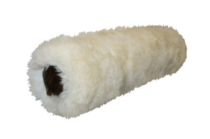 Sheepskin Lumbar Roll Pillow - White