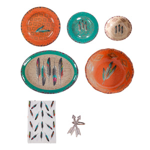 Feather Melamine 25 PCS Dinnerware Collection