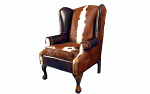 Railroadman's Wingback Western Leather Chair