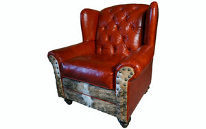 """Roja"" Tufted Oversized Wingback"