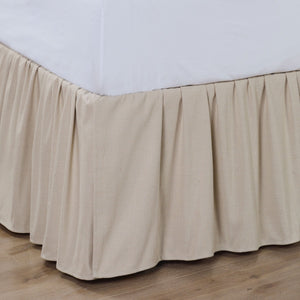 Linen Ruffled Bed Skirt