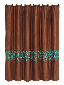 Wyatt Shower Curtain with Scroll Pattern