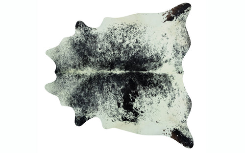 Brazilian Cowhide - Black and White Speckle