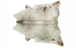 Brazilian Cowhide - Brown and White Speckle