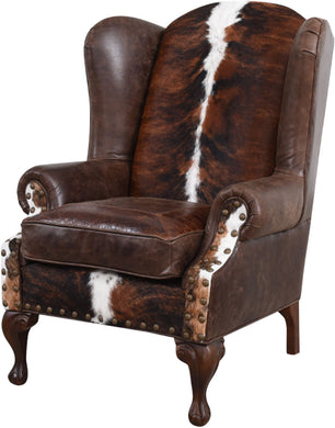 Santa Fe Wingback Western Leather Chair