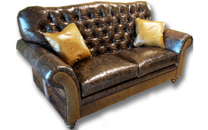"""Medina"" 2 Cushion Tufted Love Seat"