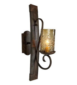 Tequila Barrel Sconce