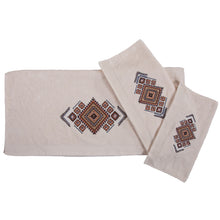 Load image into Gallery viewer, Sedona Aztec Embroidery 3PCS Bath Towel Set