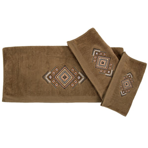 Sedona Aztec Embroidery 3PCS Bath Towel Set
