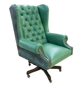 Albuquerque Turquoise Western Leather Executive Chair