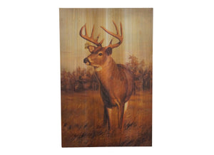 Whitetail Deer Distressed Look Wall Panel
