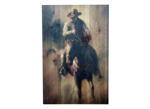 Lone Rider Distressed Look Wall Panel