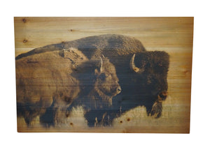 Two Buffalo Distressed Look Wall Panel