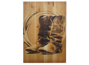 Dusty Boots Distressed Look Wall Panel