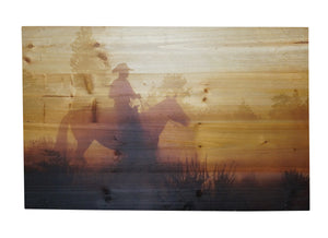 Sunset Rider Distressed Look Wall Panel