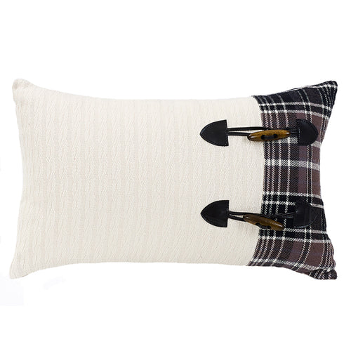 Whistler Toss Pillow w/Toggle Buttons