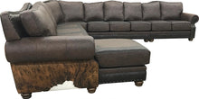 Load image into Gallery viewer, Split Rail Giant Cowhide Sectional