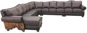 Split Rail Giant Cowhide Sectional
