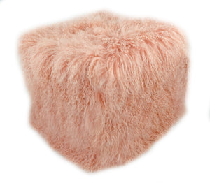 Tibetan Square Pouf - Blush