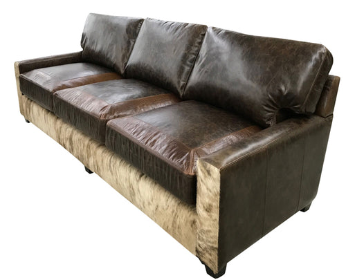 Restoration Western Contemporary Cowhide Sofa