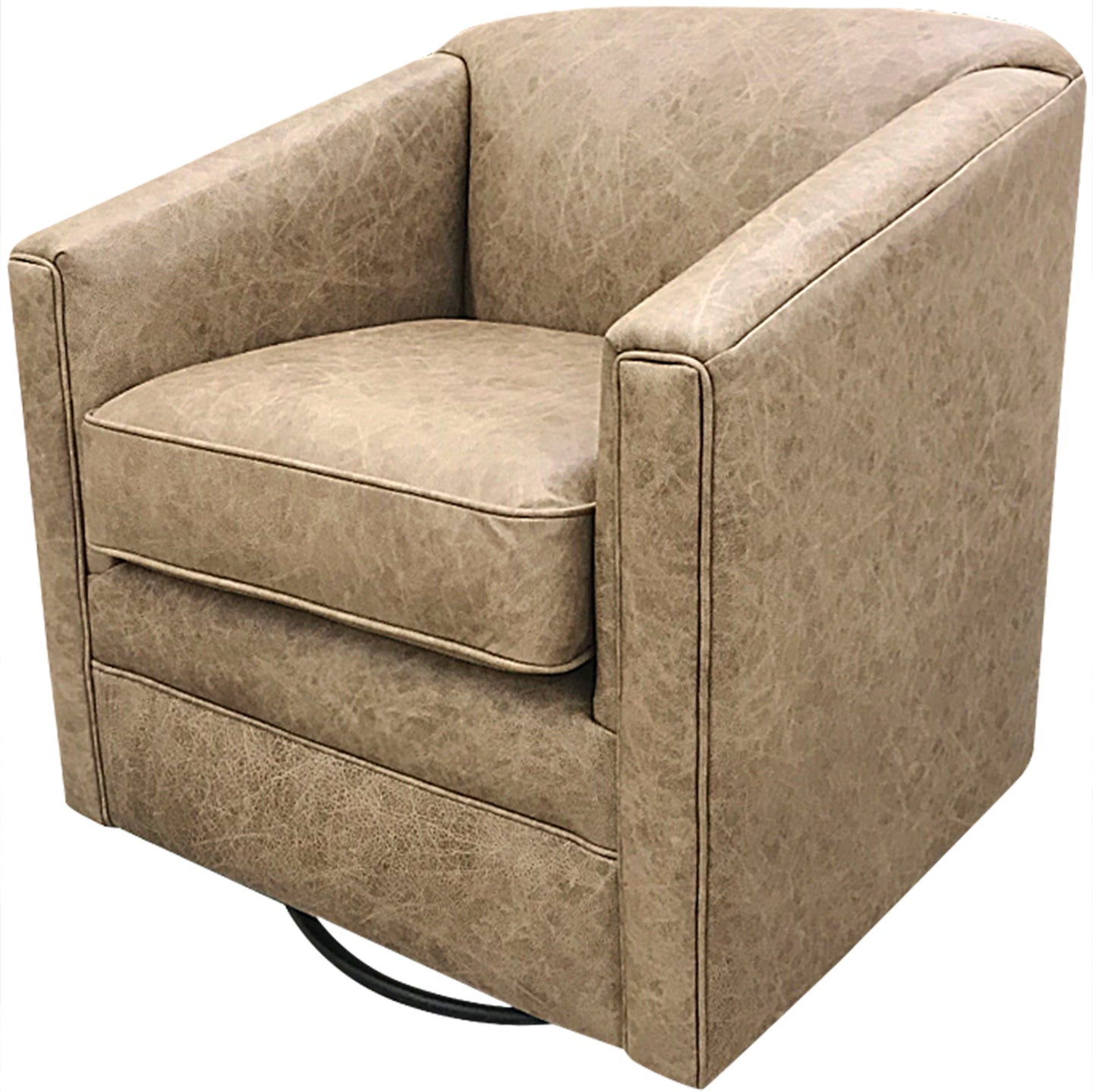 Palomino Western Leather Swivel Glider