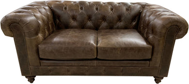 Chesterfield Rustic Western Love Seat