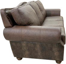 Load image into Gallery viewer, Classic Croc Western Leather Sofa