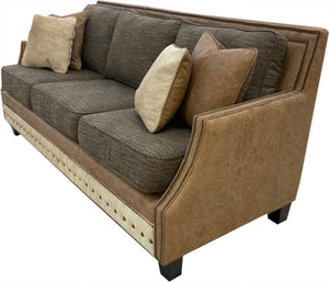 Telluride Contemporary Western Leather Sofa
