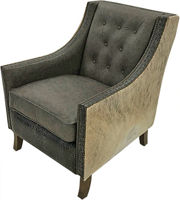 Aztec Contemporary Rustic Tufted Lounge Chair