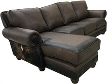 Load image into Gallery viewer, Split Rail Curved Sectional w/Chaise Lounge