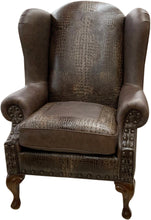 Load image into Gallery viewer, Classic Croc Western Wingback Chair