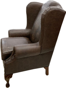 Classic Croc Western Wingback Chair