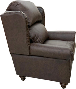 Classic Croc Rustic Leather Wingback Recliner