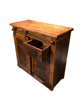 Load image into Gallery viewer, Industrial Rustic Reclaimed Wood Small Credenza