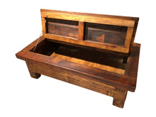 Load image into Gallery viewer, Reclaimed Wood Storage Coffee Table