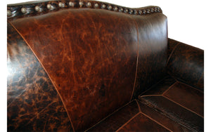Maverick 3 Cushion Western Cowhide Sofa