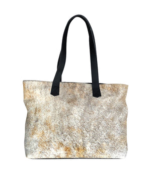 Cowhide Tote - Exotic Brindle