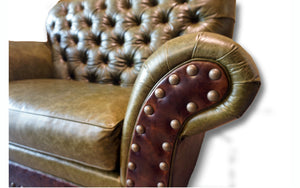 """Victoria"" Tufted Chair and a Half"