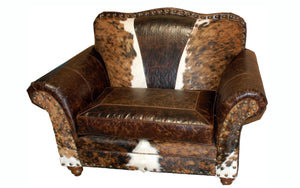 Wild Bill Western Leather Chair and 1/2