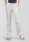 "Stretch Linen 31"" Mini Boot-Cut Pant W/ Belt"
