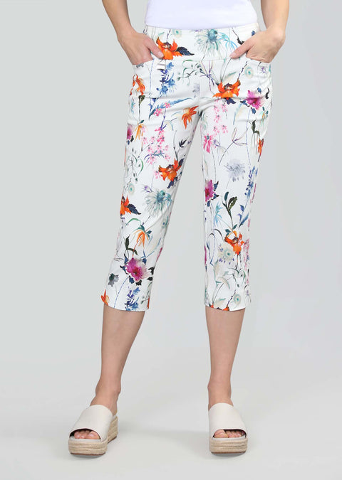 Millefleur Print 21 1/2''  Capri With Pockets