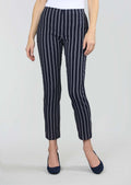 Chain Stripe Print 28'' Ankle Pant, No Waistband