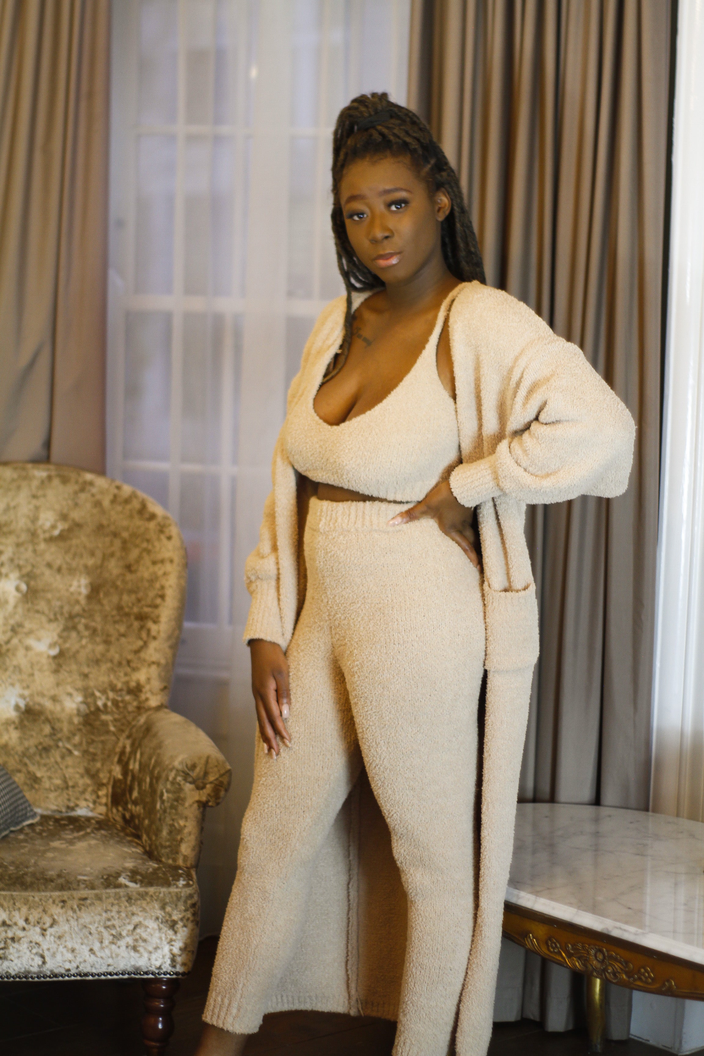 Cozy 3 Piece Set in Mink