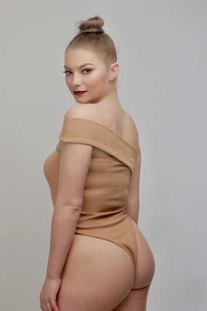 'Kenya' Bodysuit in Mink - Sincerely Nude