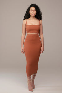 'Andreya' Crop Top in Ginger - Sincerely Nude