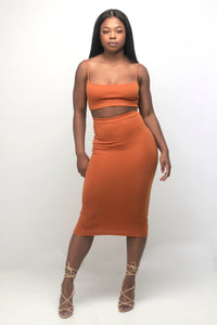 'Draya' Midi Skirt in Dusk - Sincerely Nude