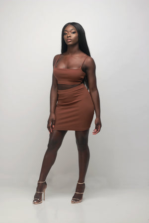 'Luna' Mini Skirt in Ebony - Sincerely Nude