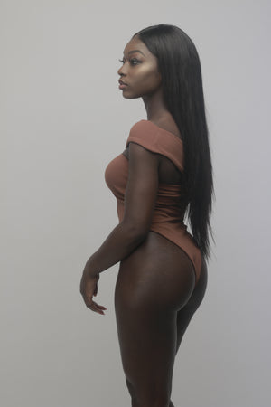 'Kenya' Bodysuit in Ebony - Sincerely Nude