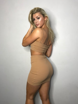'Luna' Mini Skirt in Mink - Sincerely Nude